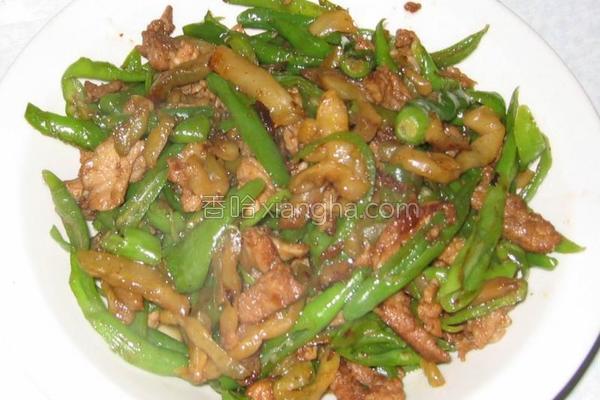 尖椒榨菜肉丝的做法
