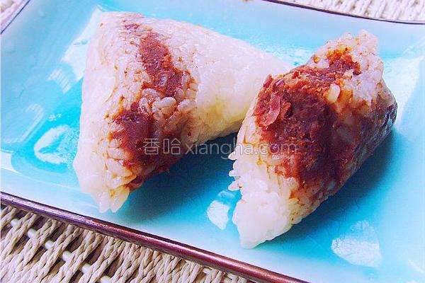 糯米豆沙粽的做法