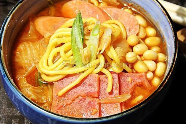 韩国部队汤的做法