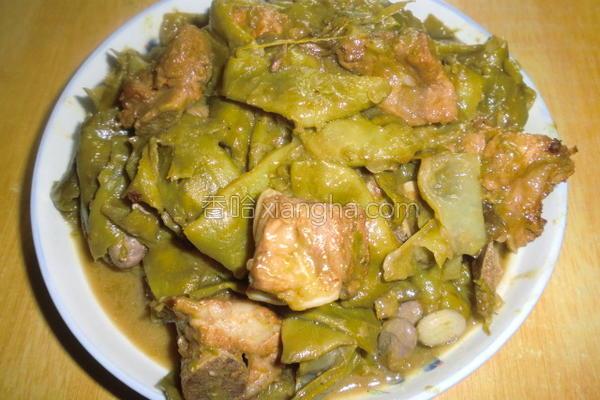 排骨炖油豆的做法