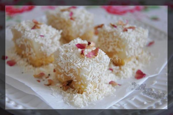 菠萝杏仁糯米糕的做法