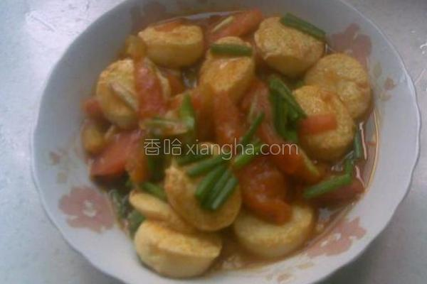 西红柿烧日本豆腐的做法