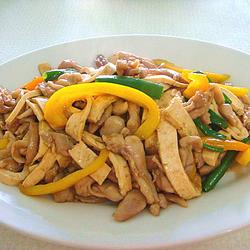 蚝油滑炒豆腐鸡肉的做法[图]