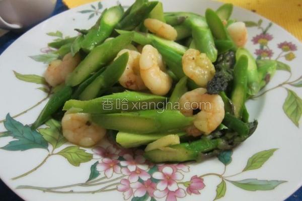 芦笋炒虾仁的做法