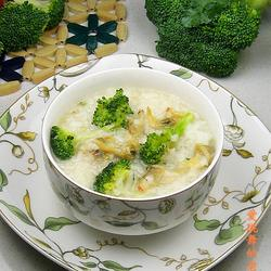 西兰花蛤蜊粥的做法[图]
