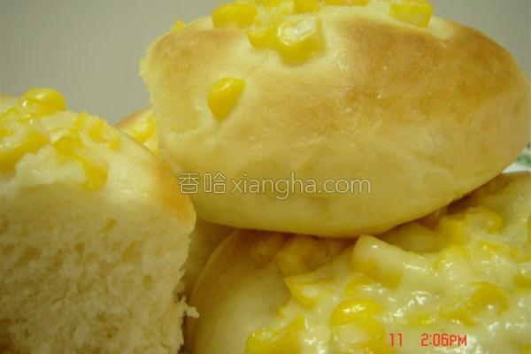 玉米沙拉面包的做法
