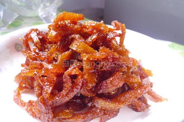 糖炒橘皮的做法