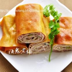 豆腐皮熏肉卷的做法[图]