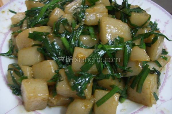 韭菜炒凉粉的做法