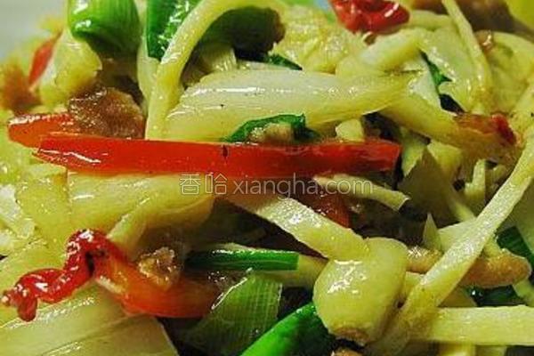 冬笋炒咸菜的做法