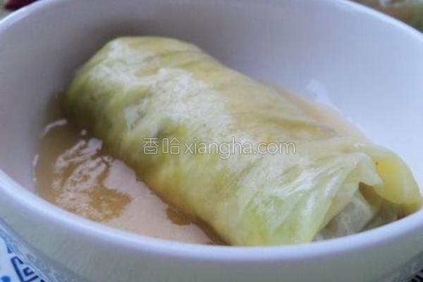 包菜咖喱卷的做法