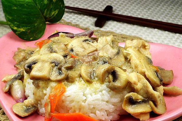 奶油蘑菇鸡肉饭的做法