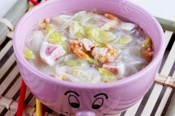 娃娃菜海米汤的做法