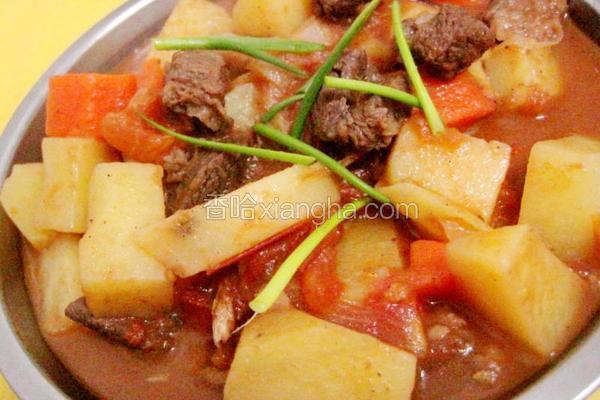 土豆西红柿焖牛腩