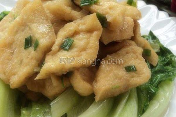 蚝油豆泡扒生菜的做法