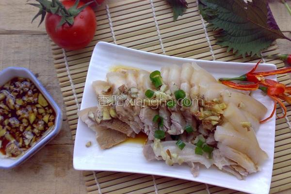 沙姜白切肉的做法