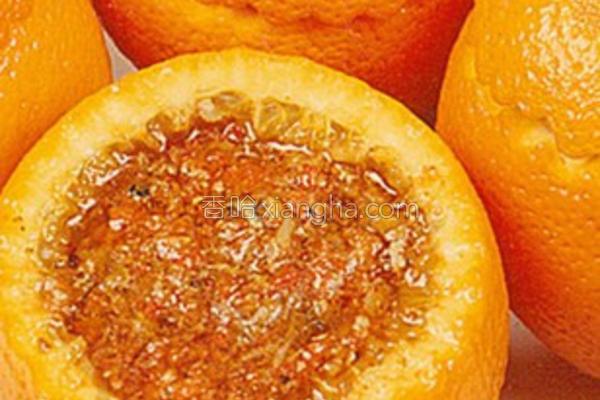 蟹酿橙的做法
