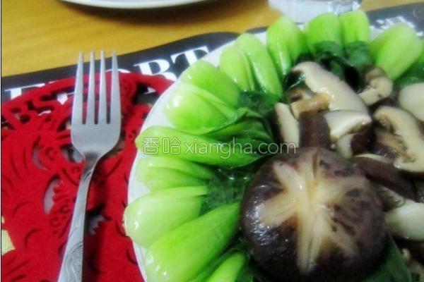 香菇菜芯的做法