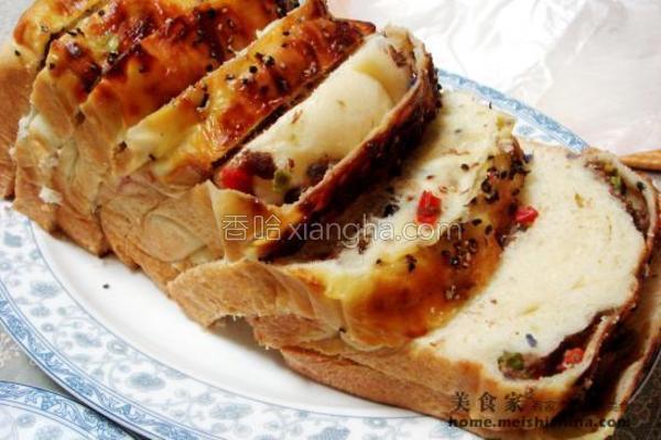 牛肉蔬菜面包的做法