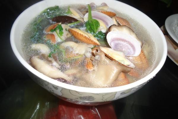 花甲香菇汤的做法