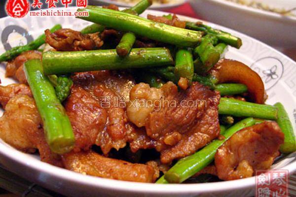 五花肉炒芦笋的做法