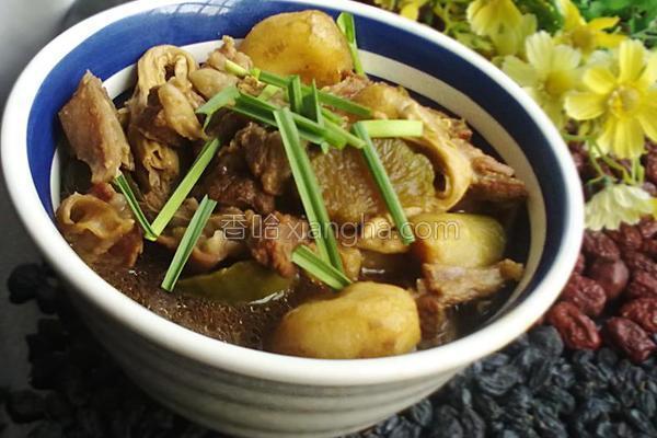 羊腩腐竹煲的做法