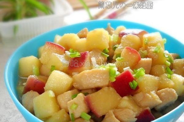 酸甜苹果鸡丁的做法