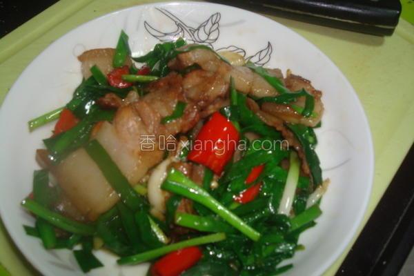 三层肉炒韭菜的做法