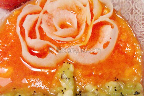木瓜水果捞的做法