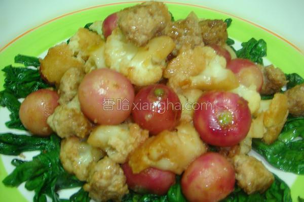肉丸子菜花的做法