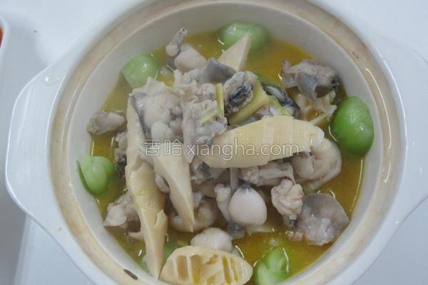 浓汤石鸡煲的做法