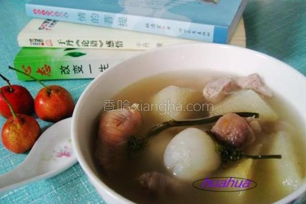 鸡爪瘦肉水果人参汤的做法