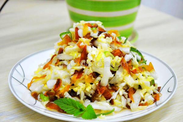 白菜拌蛰皮的做法