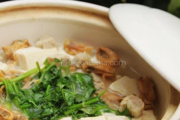 牡蛎豆腐煲的做法