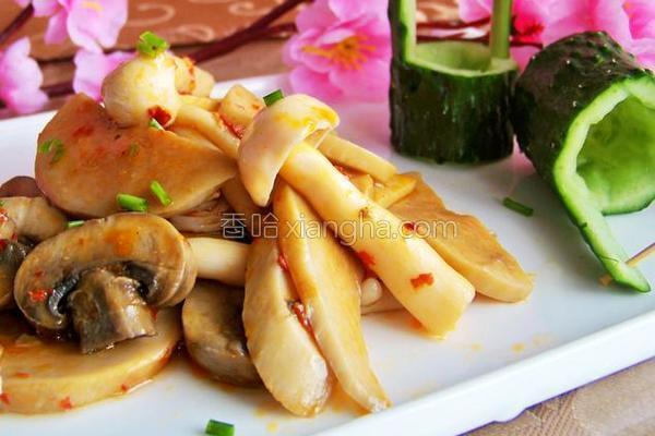 蒜蓉辣酱烩群菇的做法