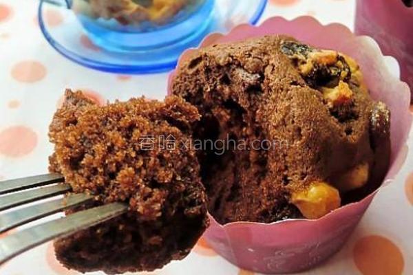 蜜豆巧克力玛芬的做法