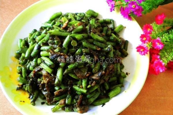 芸豆橄榄菜的做法