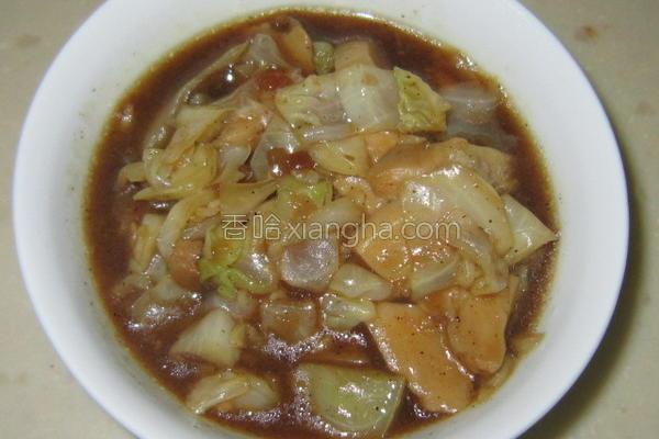 包菜炒杏鲍菇的做法