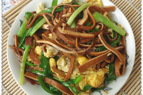 豆丝韭菜的做法