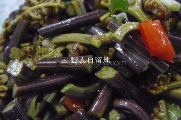 凉拌野蕨菜的做法