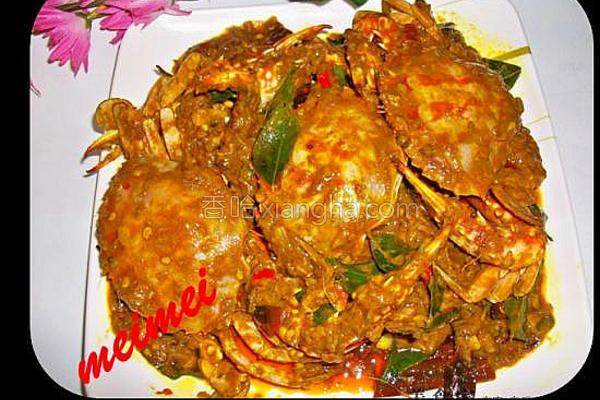 超辣干咖喱螃蟹的做法
