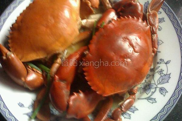 清蒸蟹的做法