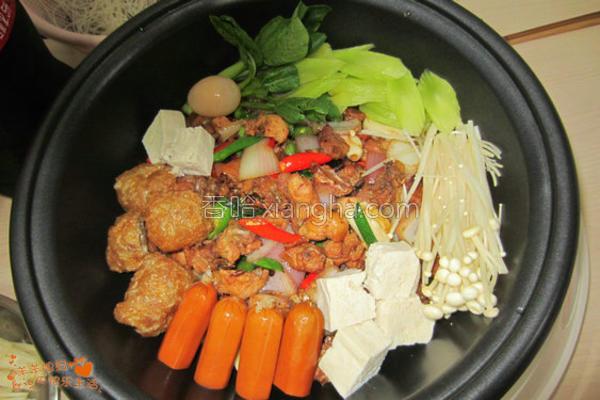 香辣鸡煲火锅的做法