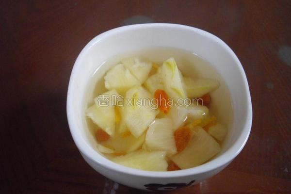 冰糖凤梨汤的做法