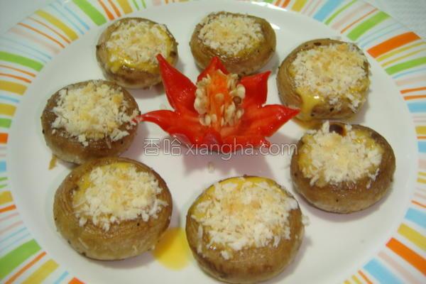 芝士焗鲜蘑菇的做法