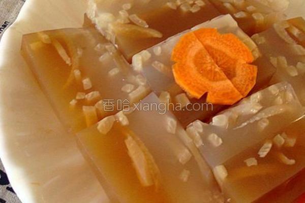 橙香双色猪皮冻的做法