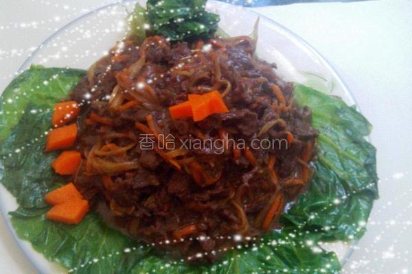 姜炒牛肉丝的做法