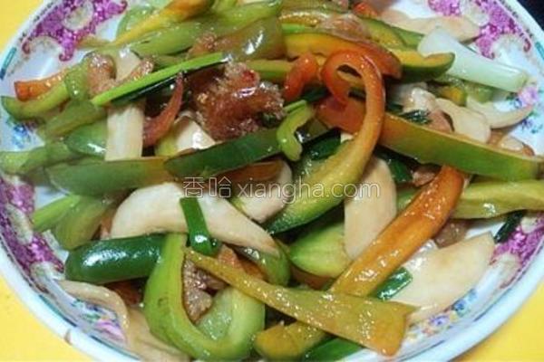 虾米炒杂蔬的做法