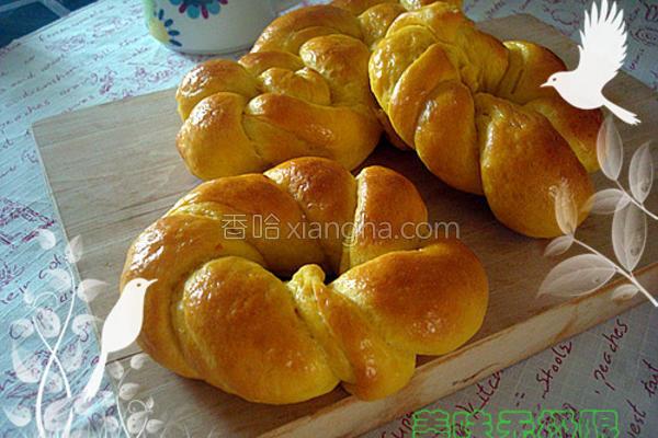 南瓜编花面包的做法