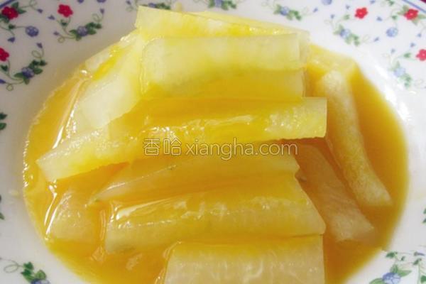 橙味瓜条的做法